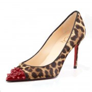 Replica Christian Louboutin Geo 80mm Pumps Leopard Cheap Fake Shoes