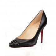Replica Christian Louboutin Geo 80mm Pumps Black Cheap Fake Shoes
