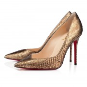 Replica Christian Louboutin Completa 100mm Pumps Gold Cheap Fake Shoes