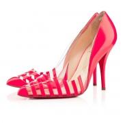 Replica Christian Louboutin Pivichic pvc 100mm Pumps Rose Paris Cheap Fake Shoes