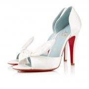 Replica Christian Louboutin Livre 100mm Special Occasion Off White Cheap Fake Shoes