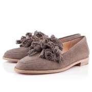 Replica Christian Louboutin Japonaise Loafers Taupe Cheap Fake Shoes