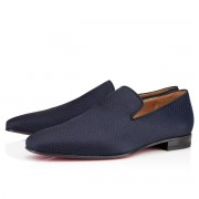 Replica Christian Louboutin Dandy Loafers Navy Cheap Fake Shoes