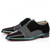 Replica Christian Louboutin Bruno Orlato Loafers Black/Grey Cheap Fake Shoes