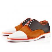 Replica Christian Louboutin Bruno Orlato Loafers White/Fauve Cheap Fake Shoes