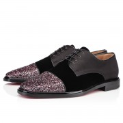 Replica Christian Louboutin Bruno Orlato Glitter Loafers Rose Antique Cheap Fake Shoes