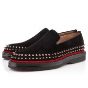 Replica Christian Louboutin Fredapoitiers Loafers Black Cheap Fake Shoes