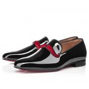 Replica Christian Louboutin Watson Loafers Black/Red Cheap Fake Shoes