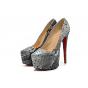 Replica Christian Louboutin Daffodile 160mm Platforms Grey Cheap Fake Shoes