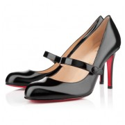 Replica Christian Louboutin Wallis 80mm Pumps Black Cheap Fake Shoes