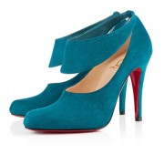 Replica Christian Louboutin Miss zorra 100mm Pumps Turquoise Cheap Fake Shoes