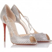 Replica Christian Louboutin Delico 100mm Peep Toe Pumps Multicolor Cheap Fake Shoes