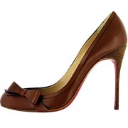 Replica Christian Louboutin Beauty 100mm Pumps Coffee Cheap Fake Shoes
