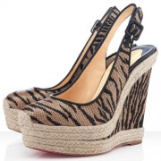 Replica Christian Louboutin Everesta 140mm Wedges Brown Cheap Fake Shoes