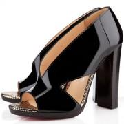 Replica Christian Louboutin Consigne 120mm Sandals Black Cheap Fake Shoes