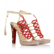 Replica Christian Louboutin Salsbourg 120mm Sandals Taupe Cheap Fake Shoes
