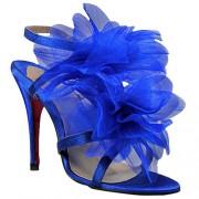 Replica Christian Louboutin Petal 70mm Sandals Blue Cheap Fake Shoes