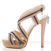 Replica Christian Louboutin Trailer 140mm Sandals Beige Cheap Fake Shoes