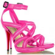 Replica Christian Louboutin Rodita 120mm Sandals Rose Matador Cheap Fake Shoes