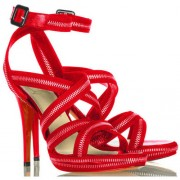 Replica Christian Louboutin Rodita 120mm Sandals Red Cheap Fake Shoes