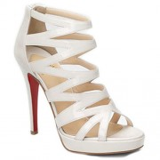 Replica Christian Louboutin Fernando 120mm Sandals White Cheap Fake Shoes