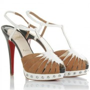 Replica Christian Louboutin Zigounette 140mm Sandals Camel Cheap Fake Shoes
