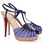 Replica Christian Louboutin Zigounette 140mm Sandals Purple Cheap Fake Shoes