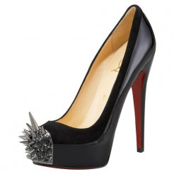 Replica Christian Louboutin Asteroid 140mm Platforms Black Cheap Fake Shoes