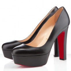 Replica Christian Louboutin Bianca 140mm Platforms Black Cheap Fake Shoes