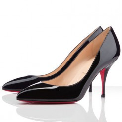 Replica Christian Louboutin Piou Piou 80mm Pumps Black Cheap Fake Shoes