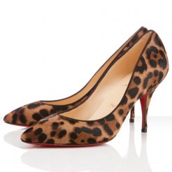 Replica Christian Louboutin Piou Piou 80mm Pumps Leopard Cheap Fake Shoes