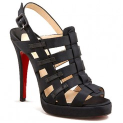 Replica Christian Louboutin Paquita 120mm Sandals Black Cheap Fake Shoes