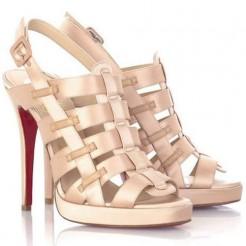 Replica Christian Louboutin Paquita 120mm Sandals Blush Cheap Fake Shoes