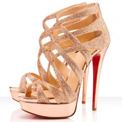 Replica Christian Louboutin Balota 140mm Sandals Nude Cheap Fake Shoes