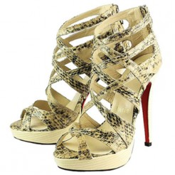 Replica Christian Louboutin Balota 140mm Sandals Python Cheap Fake Shoes