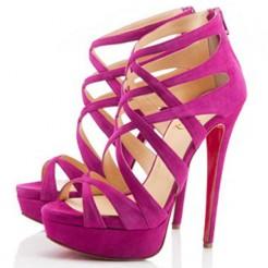 Replica Christian Louboutin Balota 140mm Sandals Rose Matador Cheap Fake Shoes