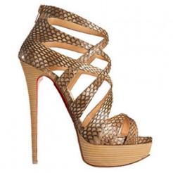Replica Christian Louboutin Balota 140mm Sandals Python Cheap Fake Shoes