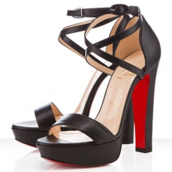 Replica Christian Louboutin Summerissima 140mm Sandals Black Cheap Fake Shoes