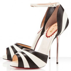 Replica Christian Louboutin Armadillo Bride 120mm Sandals Black Cheap Fake Shoes