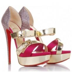 Replica Christian Louboutin Ambertina 140mm Sandals Multicolor Cheap Fake Shoes