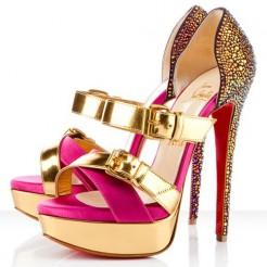 Replica Christian Louboutin Ambertina 140mm Sandals Rose Matador Cheap Fake Shoes