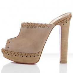 Replica Christian Louboutin Sablina 140mm Sandals Taupe Cheap Fake Shoes