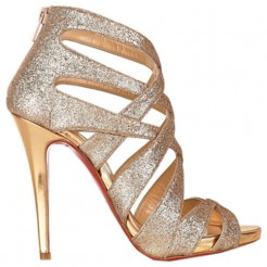Replica Christian Louboutin Balota 120mm Sandals Gold Cheap Fake Shoes