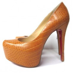 Replica Christian Louboutin Daffodile 160mm Platforms Brown Cheap Fake Shoes