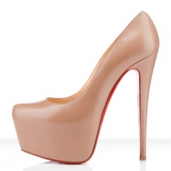 Replica Christian Louboutin Daffodile 160mm Platforms Beige Cheap Fake Shoes