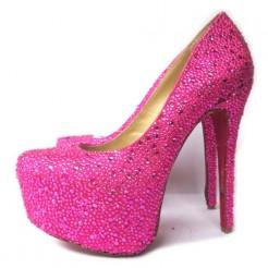 Replica Christian Louboutin Daffodile 160mm Platforms Rose Matador Cheap Fake Shoes