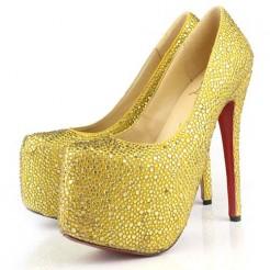 Replica Christian Louboutin Daffodile 160mm Platforms Canari Cheap Fake Shoes