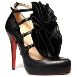Replica Christian Louboutin Dillian 120mm Mary Jane Pumps Black Cheap Fake Shoes