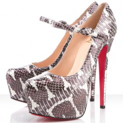 Replica Christian Louboutin Lady Daf 160mm Mary Jane Pumps Perlato Viola Cheap Fake Shoes