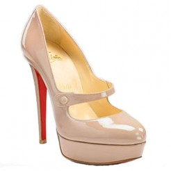 Replica Christian Louboutin Relika 140mm Mary Jane Pumps Pink Cheap Fake Shoes